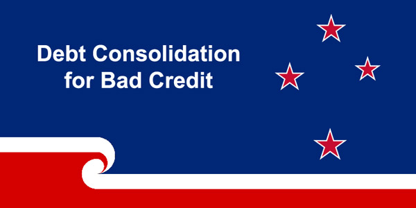 Debt consolidation for bad credit in New Zealand
